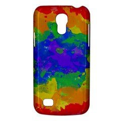 Colorful paint texture     Samsung Galaxy S4 I9500/I9505 Woven Pattern Leather Folio Case