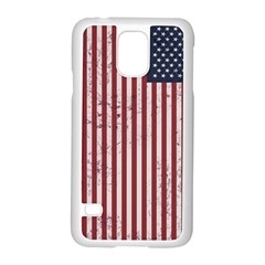 Distressed American Flag Samsung Galaxy S5 Case (White)