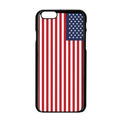 American Flag Apple iPhone 6/6S Black Enamel Case
