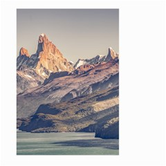 Fitz Roy And Poincenot Mountains Lake View   Patagonia Large Garden Flag (two Sides)