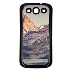 Fitz Roy And Poincenot Mountains Lake View   Patagonia Samsung Galaxy S3 Back Case (Black)