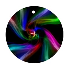 Abstract Art Color Design Lines Ornament (Round)
