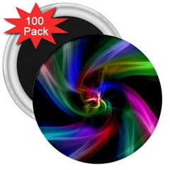 Abstract Art Color Design Lines 3  Magnets (100 Pack)