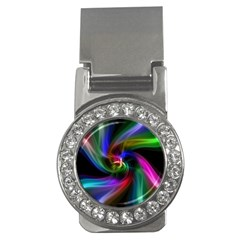 Abstract Art Color Design Lines Money Clips (cz)