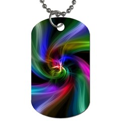 Abstract Art Color Design Lines Dog Tag (Two Sides)