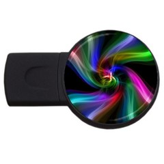 Abstract Art Color Design Lines USB Flash Drive Round (1 GB)