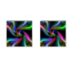 Abstract Art Color Design Lines Cufflinks (square)