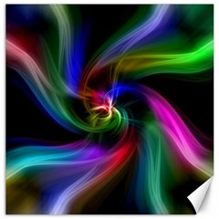 Abstract Art Color Design Lines Canvas 16  x 16