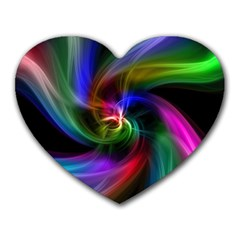 Abstract Art Color Design Lines Heart Mousepads