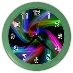 Abstract Art Color Design Lines Color Wall Clocks