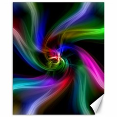 Abstract Art Color Design Lines Canvas 11  X 14
