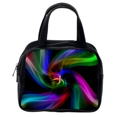 Abstract Art Color Design Lines Classic Handbags (one Side)