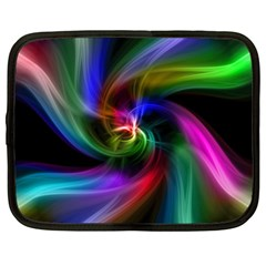 Abstract Art Color Design Lines Netbook Case (xl)