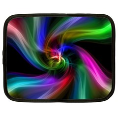 Abstract Art Color Design Lines Netbook Case (XXL)