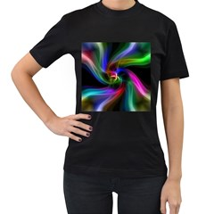 Abstract Art Color Design Lines Women s T Shirt (black)