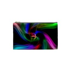 Abstract Art Color Design Lines Cosmetic Bag (Small)