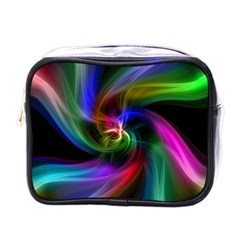 Abstract Art Color Design Lines Mini Toiletries Bags