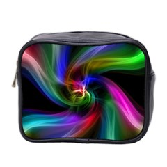 Abstract Art Color Design Lines Mini Toiletries Bag 2 Side