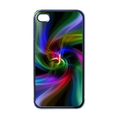 Abstract Art Color Design Lines Apple iPhone 4 Case (Black)