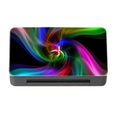 Abstract Art Color Design Lines Memory Card Reader With Cf