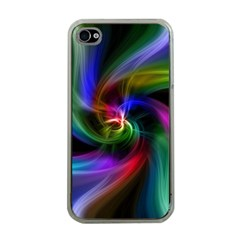 Abstract Art Color Design Lines Apple Iphone 4 Case (clear)