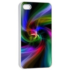 Abstract Art Color Design Lines Apple Iphone 4/4s Seamless Case (white)