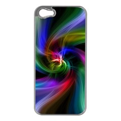 Abstract Art Color Design Lines Apple iPhone 5 Case (Silver)