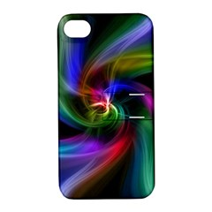 Abstract Art Color Design Lines Apple Iphone 4/4s Hardshell Case With Stand