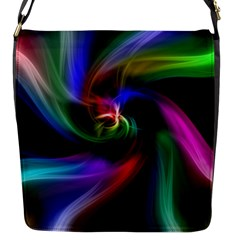 Abstract Art Color Design Lines Flap Messenger Bag (s)