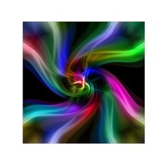 Abstract Art Color Design Lines Small Satin Scarf (Square)