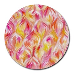 Pretty Painted Pattern Pastel Round Mousepads