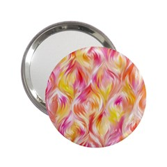 Pretty Painted Pattern Pastel 2.25  Handbag Mirrors