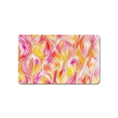 Pretty Painted Pattern Pastel Magnet (name Card)
