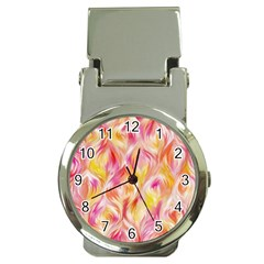 Pretty Painted Pattern Pastel Money Clip Watches