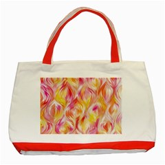 Pretty Painted Pattern Pastel Classic Tote Bag (Red)