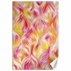 Pretty Painted Pattern Pastel Canvas 24  x 36