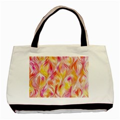 Pretty Painted Pattern Pastel Basic Tote Bag (Two Sides)