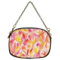 Pretty Painted Pattern Pastel Chain Purses (One Side)