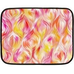 Pretty Painted Pattern Pastel Fleece Blanket (mini)