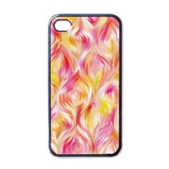 Pretty Painted Pattern Pastel Apple Iphone 4 Case (black)