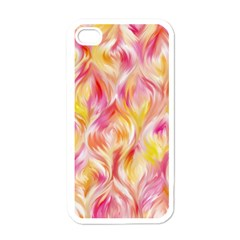 Pretty Painted Pattern Pastel Apple iPhone 4 Case (White)