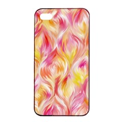 Pretty Painted Pattern Pastel Apple Iphone 4/4s Seamless Case (black)
