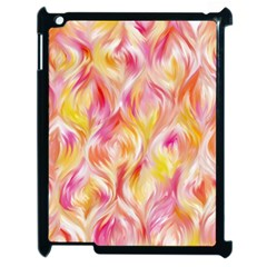 Pretty Painted Pattern Pastel Apple iPad 2 Case (Black)