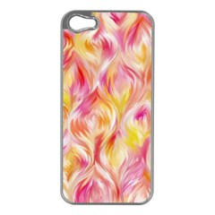 Pretty Painted Pattern Pastel Apple iPhone 5 Case (Silver)
