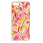 Pretty Painted Pattern Pastel Apple iPhone 5 Seamless Case (White) Front