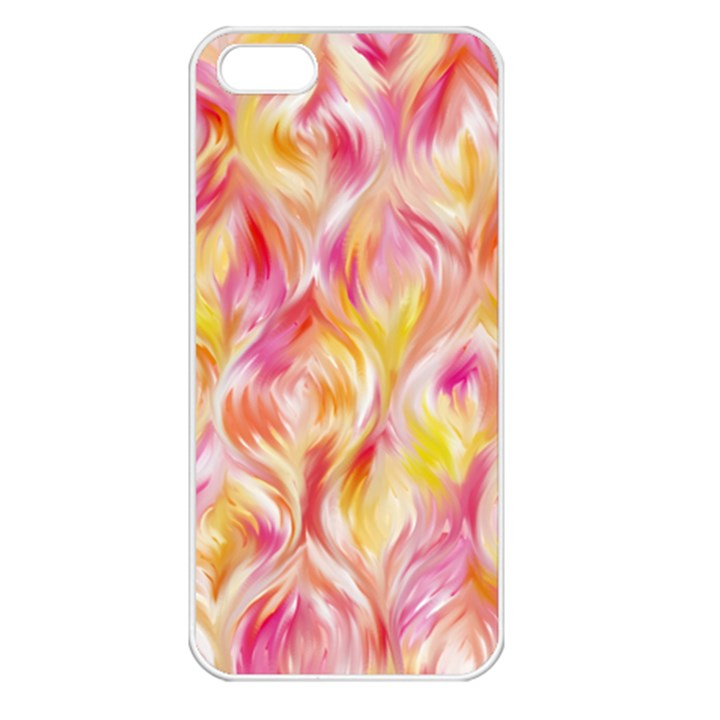 Pretty Painted Pattern Pastel Apple iPhone 5 Seamless Case (White)