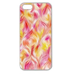 Pretty Painted Pattern Pastel Apple Seamless iPhone 5 Case (Clear)