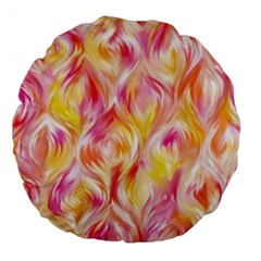 Pretty Painted Pattern Pastel Large 18  Premium Round Cushions