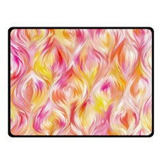 Pretty Painted Pattern Pastel Double Sided Fleece Blanket (Small)