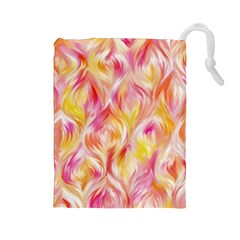 Pretty Painted Pattern Pastel Drawstring Pouches (Large)